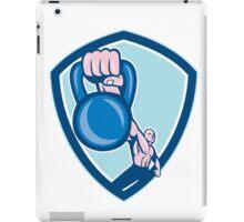 Weightlifter Lifting Kettlebell Shield Cartoon iPad Case/Skin