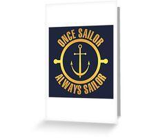 Golden Sailor Greeting Card