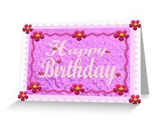 A Birthday card with craft effect Greeting Card