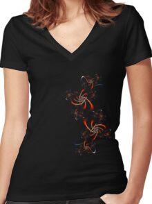 Fractal Doodle Women's Fitted V-Neck T-Shirt