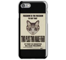 Orwellian Cat On Mathematics iPhone Case/Skin