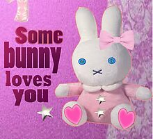 Some bunny loves U  by Ann12art