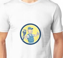 Plumber Monkey Wrench Thumbs Up Cartoon Unisex T-Shirt