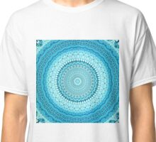 White Coastal Spray Mandala  Classic T-Shirt