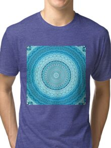 White Coastal Spray Mandala  Tri-blend T-Shirt