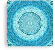 White Coastal Spray Mandala  Canvas Print