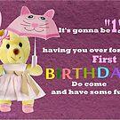 First Birthday Invitation  by Ann12art