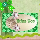 Miss you card by Ann12art