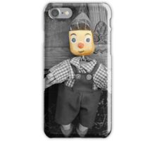 old wooden puppet iPhone Case/Skin