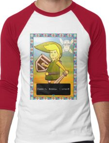 King of the Hill - Link from Zelda and Navi - Parody - Dammit, Bobby, listen!  Men's Baseball ¾ T-Shirt