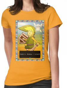 King of the Hill - Link from Zelda and Navi - Parody - Dammit, Bobby, listen!  Womens Fitted T-Shirt