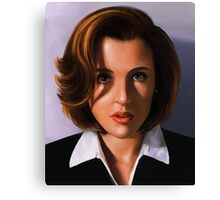 Portrait of Gillian Anderson Canvas Print