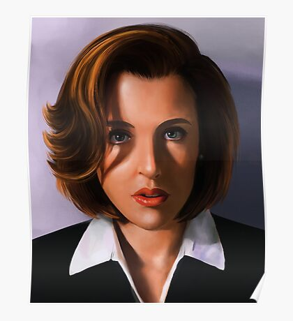 Portrait of Gillian Anderson Poster