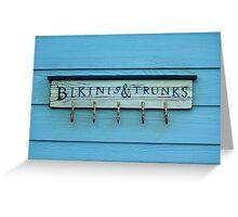 Bikinis And Trunks Hanger Greeting Card