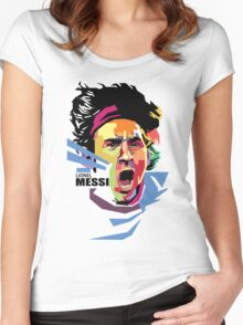 Lionel Messi - Barcelona Women's Fitted Scoop T-Shirt