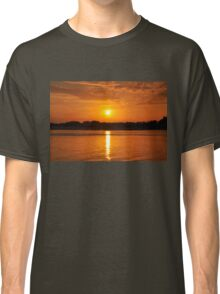 Orange Sunset on the Water Classic T-Shirt