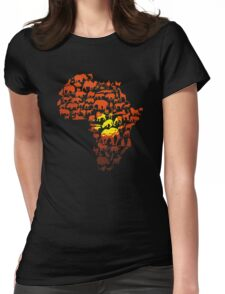 The Dark Continent Zoo Womens Fitted T-Shirt