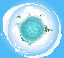 Tiny Ocean Planet by PearceHoskinson