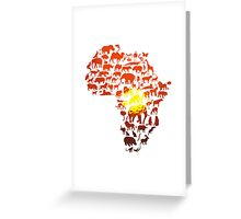 The Dark Continent Zoo Greeting Card