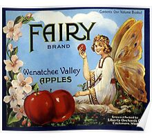 Vintage, Fairy Apples Crate Label Poster