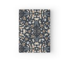 Mysterious Flowers - Dark Navy Hardcover Journal