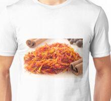 Macro view on fragrant saffron closeup  Unisex T-Shirt