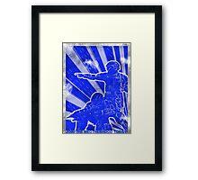 """BLUE Army """"ODST"""" Propaganda Framed Print"""