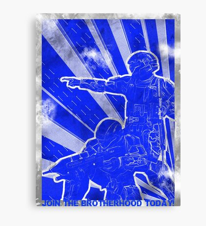 "BLUE Army ""ODST"" Propaganda Canvas Print"