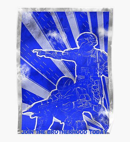 "BLUE Army ""ODST"" Propaganda Poster"