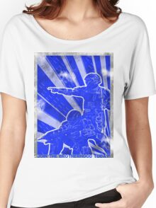 """BLUE Army """"ODST"""" Propaganda Women's Relaxed Fit T-Shirt"""