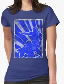 "BLUE Army ""ODST"" Propaganda Womens Fitted T-Shirt"