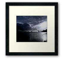 NEWPORT BAY BRIDGE Framed Print