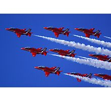 Red Arrows Hawk T1 Photographic Print