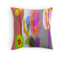 Hippy Flower Power by, Mickeys Art And Design Throw Pillow