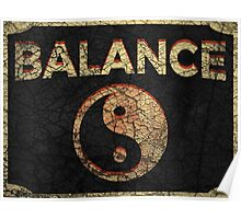 Yin Yang Balance Poster