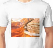 Sponge cake with chocolate filling and tea Unisex T-Shirt