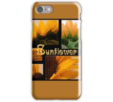 Sunflower Macro Collage Scrapbook Page iPhone Case/Skin