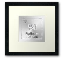 Periodic Table of Elements - Platinum (Pt) Framed Print