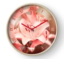 Flowering Lilium plant textured Clock