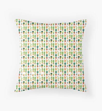 Cartoon Cactus Throw Pillow