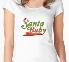 Cool Kris Kringle Santa Baby - Unique Green and Red Santa Clause Hat Christmas Sports T-Shirt Women's Fitted Scoop T-Shirt