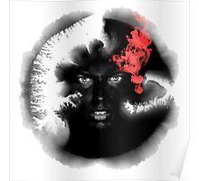Voodoo Psychedelic Ink Man Poster