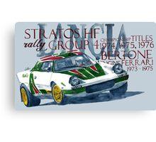 Rally Group B-Lancia Stratos Canvas Print