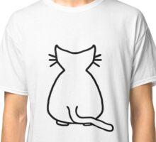 Cat Outline Classic T-Shirt