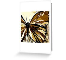 An Autumn Butterfly so Brown Greeting Card