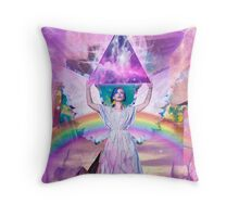 Lisa Frank <3s Jesus  Throw Pillow