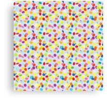 Flying confetti pattern Canvas Print