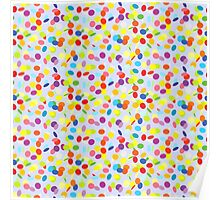 Flying confetti pattern Poster