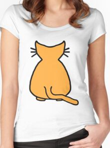 Ginger Cat Women's Fitted Scoop T-Shirt
