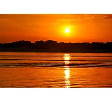 Orange Ripples on the Water Photographic Print